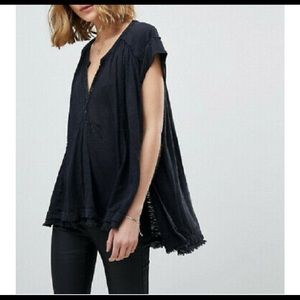 Free People Aster Henley top SZ XS